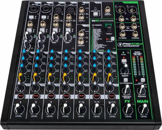 Mackie ProFX-10 v 3 ProFXv3 Series 10-Channel Professional Effects Mixer with USB and Pro Tools First Software Product Image 11