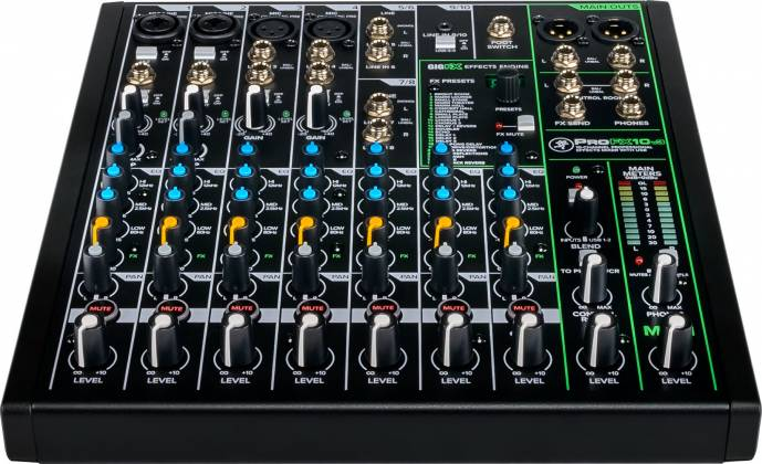 Mackie ProFX-10 v 3 ProFXv3 Series 10-Channel Professional Effects Mixer with USB and Pro Tools First Software Product Image 10