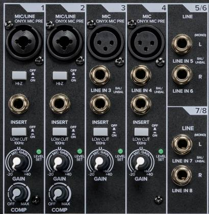 Mackie ProFX-10 v 3 ProFXv3 Series 10-Channel Professional Effects Mixer with USB and Pro Tools First Software Product Image 7