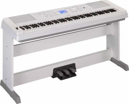 Yamaha DGX660-WH 88-Key Electric Piano with Stand - White Product Image 4