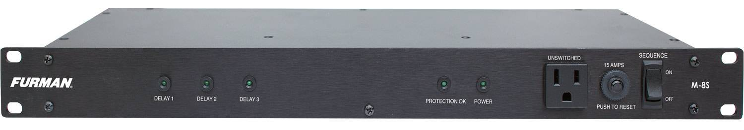 Furman M-8S 120V/15A Standard Power Conditioner with Sequencer m-8-s Product Image 3