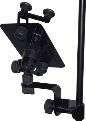Quiklok IPS12 Universal Tablet and Smart Phone Holder for Side/Top Connection to Microphone and Music Stands ips-12 Product Image 3