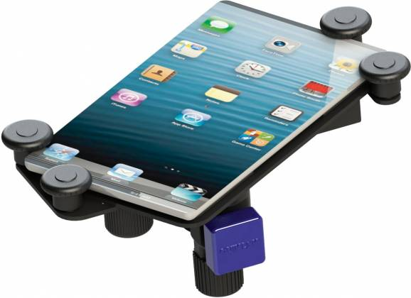 Quiklok IPS12 Universal Tablet and Smart Phone Holder for Side/Top Connection to Microphone and Music Stands ips-12 Product Image 2