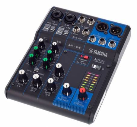 Yamaha MG06  6-Channel Mixer Product Image 12