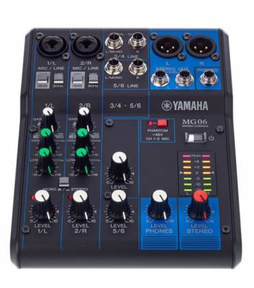 Yamaha MG06  6-Channel Mixer Product Image 11