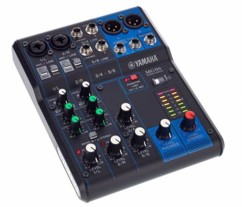 Yamaha MG06  6-Channel Mixer Product Image