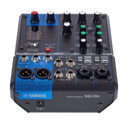 Yamaha MG06  6-Channel Mixer Product Image 10