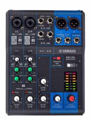 Yamaha MG06  6-Channel Mixer Product Image 9