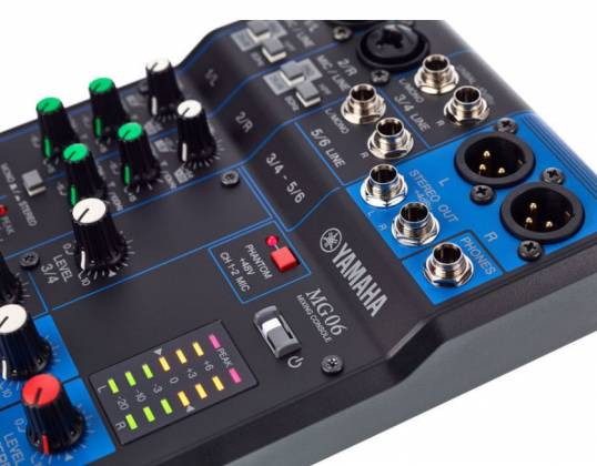 Yamaha MG06  6-Channel Mixer Product Image 7