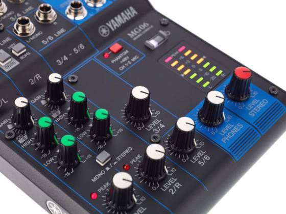 Yamaha MG06  6-Channel Mixer Product Image 6