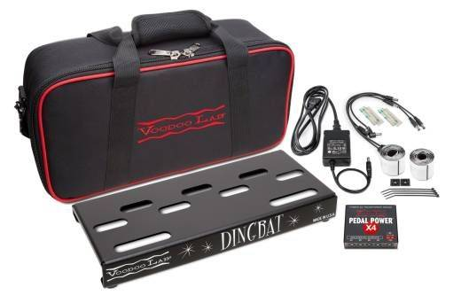 Voodoo Lab DBTX4 Dingbat Pedalboard Power Package-Tiny Dingbat with Pedal PowerX4 Power Supply 104340 Product Image