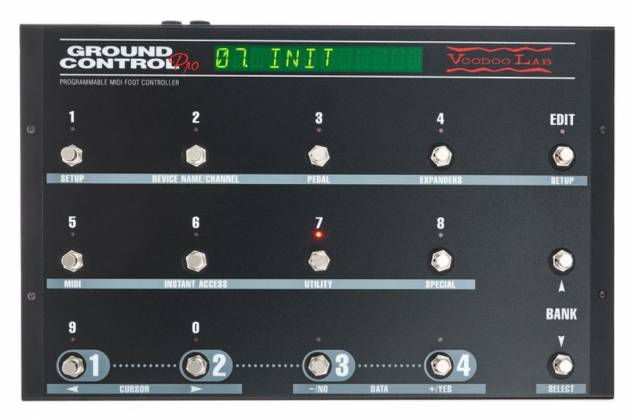 Voodoo Lab GCP Ground Control Pro Programmable MIDI Foot Controller 101591 Product Image