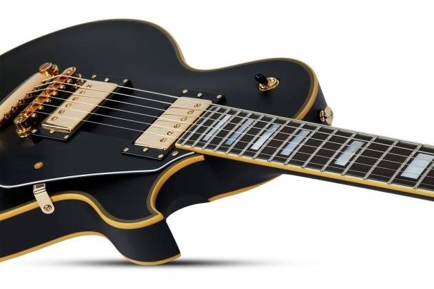 Schecter 658-SHC Solo-II Custom 6-String RH Electric Guitar-Aged Black Satin 658-shc Product Image 7