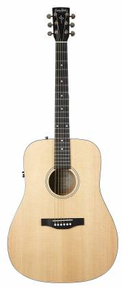 Simon & Patrick 048380 Woodland Concert Dreadnought 6 String RH Acoustic Electric Guitar with Bag Product Image 10