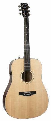 Simon & Patrick 048380 Woodland Concert Dreadnought 6 String RH Acoustic Electric Guitar with Bag Product Image 9