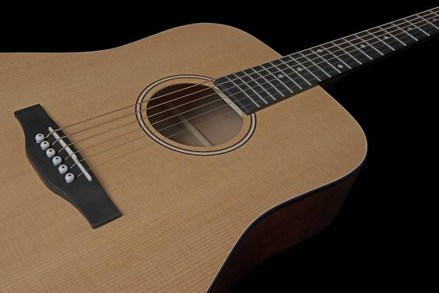 Simon & Patrick 048380 Woodland Concert Dreadnought 6 String RH Acoustic Electric Guitar with Bag Product Image 7