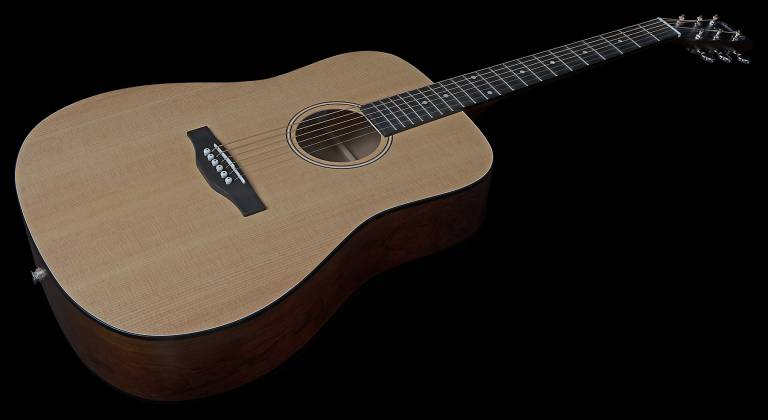 Simon & Patrick 048380 Woodland Concert Dreadnought 6 String RH Acoustic Electric Guitar with Bag Product Image 2