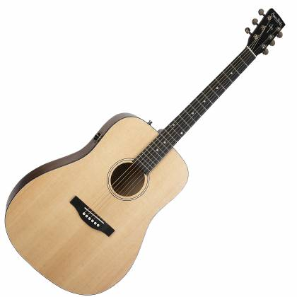 Simon & Patrick 048380 Woodland Concert Dreadnought 6 String RH Acoustic Electric Guitar with Bag Product Image