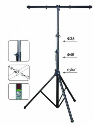 LC Group ST07-B Titan Stand Kit with Two Lighting Stands and Carrying Bag-Black Product Image 3