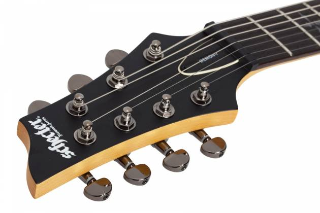 Schecter 3667SHC Demon-7 LH 7-String Electric Guitar-Satin Black Product Image 10