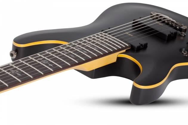 Schecter 3667SHC Demon-7 LH 7-String Electric Guitar-Satin Black Product Image 8