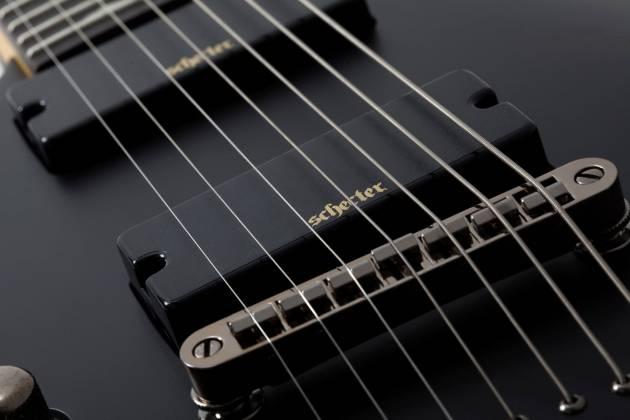 Schecter 3667SHC Demon-7 LH 7-String Electric Guitar-Satin Black Product Image 7