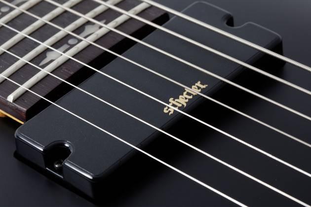 Schecter 3667SHC Demon-7 LH 7-String Electric Guitar-Satin Black Product Image 6