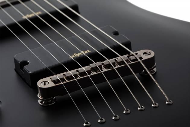 Schecter 3667SHC Demon-7 LH 7-String Electric Guitar-Satin Black Product Image 5