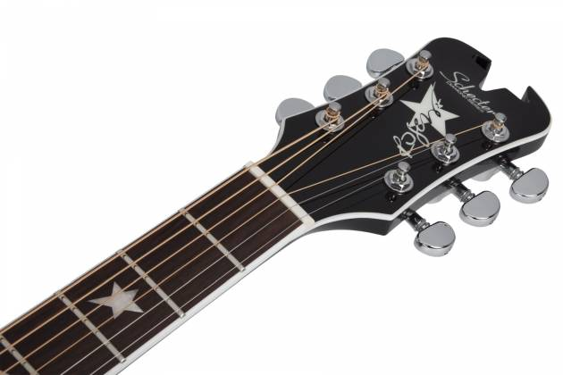 Schecter 282 SHC Robert Smith Signature RS-1000 6-String RH Stage Acoustic Electric Guitar-Gloss Black 282-shc Product Image 7
