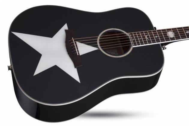 Schecter 282 SHC Robert Smith Signature RS-1000 6-String RH Stage Acoustic Electric Guitar-Gloss Black 282-shc Product Image 5
