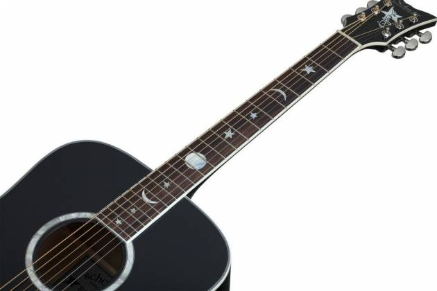 Schecter 282 SHC Robert Smith Signature RS-1000 6-String RH Stage Acoustic Electric Guitar-Gloss Black 282-shc Product Image 3