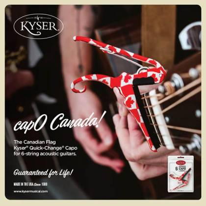 Kyser KG6-CNA Quick-Change Acoustic Guitar Capo-Canadian Flag Product Image 2