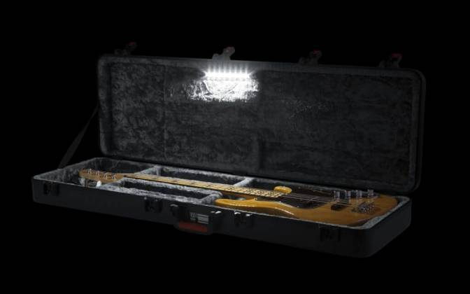 Gator MI GTSAGTRBASS-LED TSA Guitar Series Bass Guitar Case-LED Edition Product Image 13