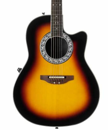 Ovation 1771VL-1 GC Signature Legend Collection Glen Campbell 6-String RH Acoustic Electric Guitar with Gigbag-Mid Depth Sunburst Product Image 4