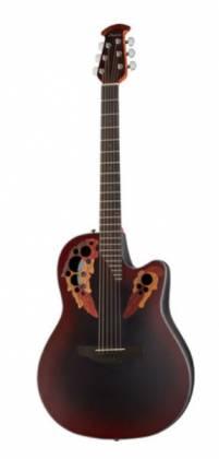 Ovation CE44-RRB Celebrity Elite Mid Depth 6-String RH Acoustic Electric Guitar-Reverse Red Burst ce-44-rrb Product Image 13