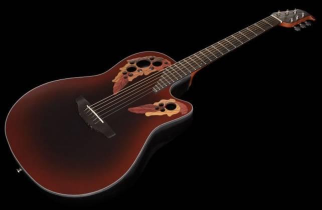 Ovation CE44-RRB Celebrity Elite Mid Depth 6-String RH Acoustic Electric Guitar-Reverse Red Burst ce-44-rrb Product Image 4