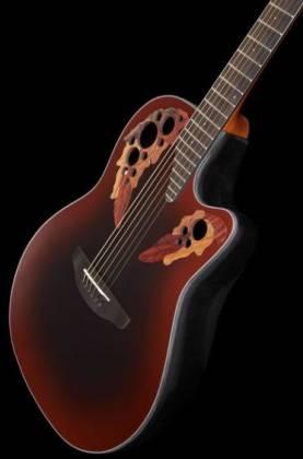 Ovation CE44-RRB Celebrity Elite Mid Depth 6-String RH Acoustic Electric Guitar-Reverse Red Burst ce-44-rrb Product Image 3