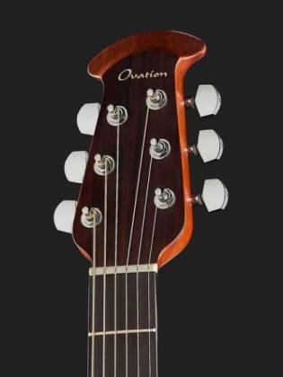 Ovation CE44-RRB Celebrity Elite Mid Depth 6-String RH Acoustic Electric Guitar-Reverse Red Burst ce-44-rrb Product Image 9