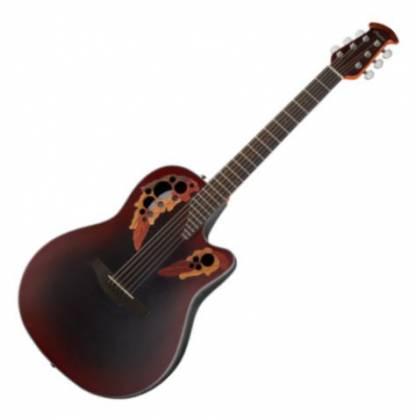 Ovation CE44-RRB Celebrity Elite Mid Depth 6-String RH Acoustic Electric Guitar-Reverse Red Burst ce-44-rrb Product Image