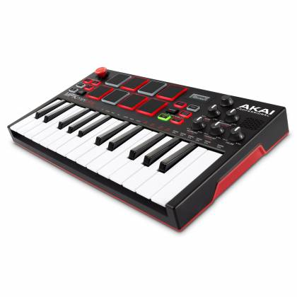 Akai MPKMINIPLAYXUS Compact 25 Note Keyboard and Pad MIDI Controller with Built-in Speakers mpk-mini-play-xus Product Image