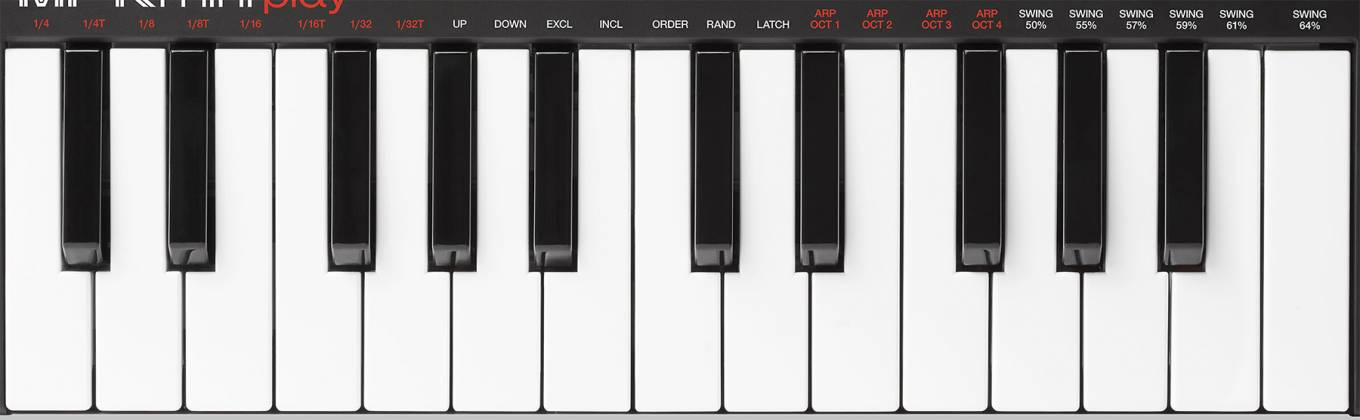 Akai MPKMINIPLAYXUS Compact 25 Note Keyboard and Pad MIDI Controller with Built-in Speakers mpk-mini-play-xus Product Image 2
