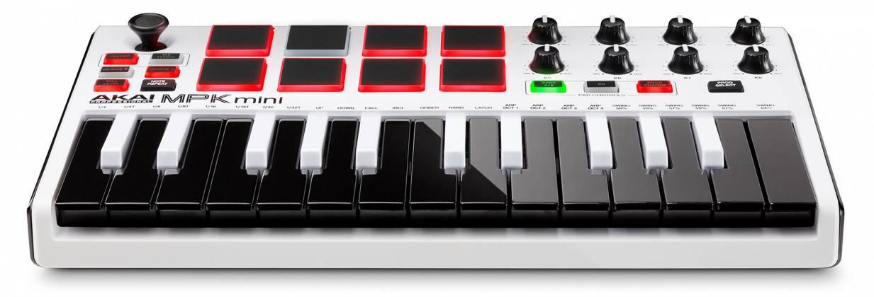 Akai MPKMINI2WHITE Limited Edition 25 Key Portable USB MIDI Keyboard Product Image 8