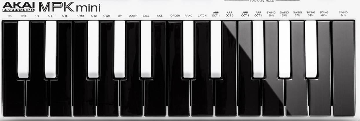 Akai MPKMINI2WHITE Limited Edition 25 Key Portable USB MIDI Keyboard Product Image 2