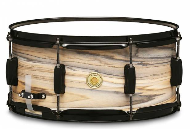 "Tama WP1465BK-NZW Woodworks 6.5"" x 14"" Snare Drum-Natural Zebrawood Wrap Product Image 2"