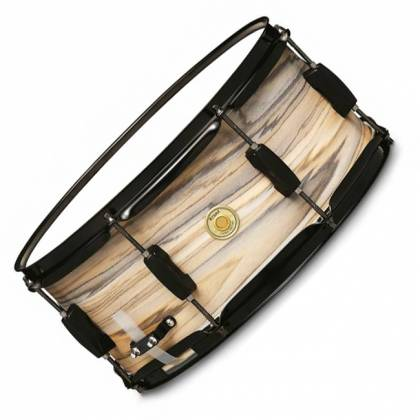 "Tama WP1465BK-NZW Woodworks 6.5"" x 14"" Snare Drum-Natural Zebrawood Wrap Product Image 1"