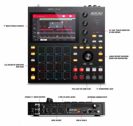 Akai MPC One Standalone Music Production Center mpc-one-x-us Product Image