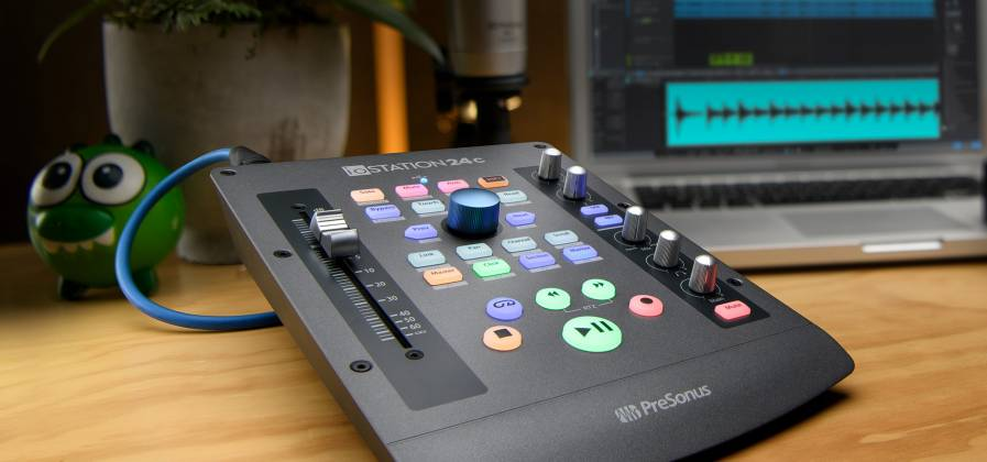 Presonus IOStation-24 C 2x2 USB-C Compatible Audio Interface and Production Controller Product Image 3