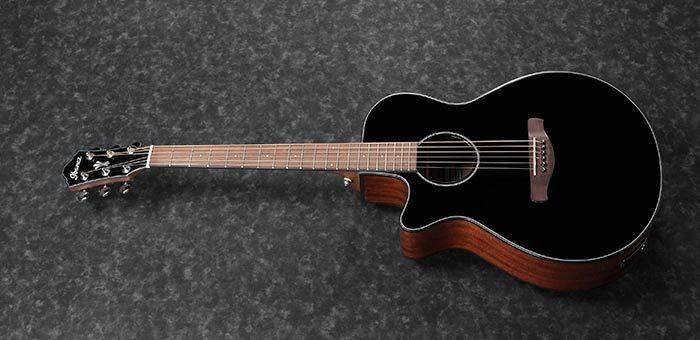 Ibanez AEG50LBKH Single Cutaway 6-String LH Acoustic Electric Guitar-Black High Gloss aeg-50-l-bkh Product Image 4