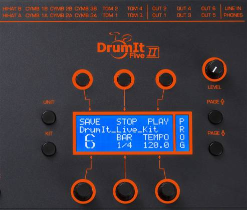 2 Box 11017 DrumIt 5 Mk2 Drum Module with 32GB of Exhangeable Memory Card and 6+2 Line Outs Product Image 3