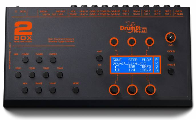 2 Box 11017 DrumIt 5 Mk2 Drum Module with 32GB of Exhangeable Memory Card and 6+2 Line Outs Product Image 2
